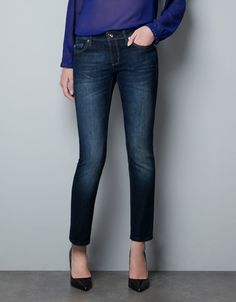 Like a glove.   DENIM Z 1975 CROPPED DARK WASH - Jeans - Woman - ZARA Denmark