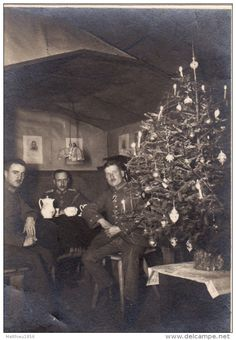 WWI, Christmas 1916, German soldiers