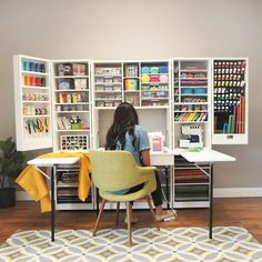 Craft room design, sewing spaces, sewing rooms, craft room storage, room or Craft Room Storage, Craft Organization, Storage Bins, Office Storage, Craft Storage Ideas For Small Spaces, Craft Tables With Storage, Diy Storage, Arts And Crafts Storage, Organization Ideas