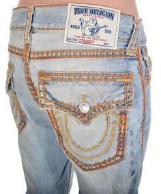 True Religion Mens Jeans Size 30 Super QT Straight w Flaps Diamond GHO NWT $392 #TrueReligion #ClassicStraightLeg