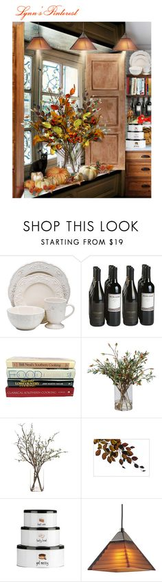 """""""Fall Centerpiece Focus - #1968"""" by lynnspinterest ❤ liked on Polyvore featuring interior, interiors, interior design, home, home decor, interior decorating, Better Homes and Gardens, Ethan Allen, CO and Progress Lighting"""