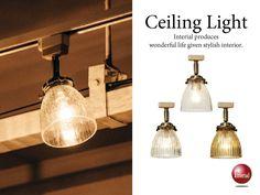 レトロなガラス製シーリングライト(1灯)LED&ECO球対応