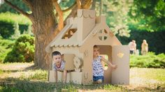 Giochi fai da te per bambini: come fare una casetta di cartone. Tante idee curiose (foto e video)