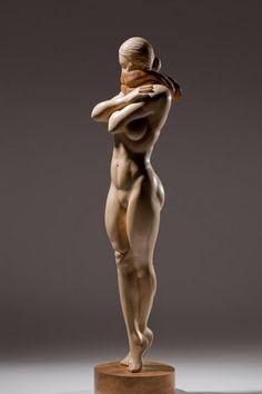 James McLoughlin wood sculpture Female Figure
