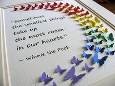 Winnie the Pooh Smallest Things Rainbow 3D by aboundingtreasures, $45.00