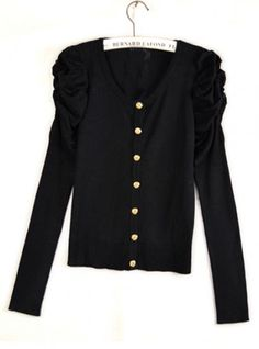 Vintage Long Sleeve Black Sweater