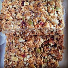 Debbie Adler's brand new #glutenfree #vegan #sugarfree Muesli Hi-Energy Bar! Recipe here: http://sweetdebbiesorganiccupcakes.com/muesli-hi-energy-bars/