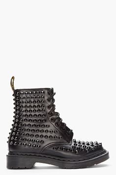 MARTENS Black Leather Spiked All-Stud 8-Eye Boots Dr Martin Boots db6ad348c