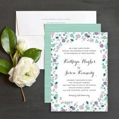 Sweet Blooms Wedding Invitation