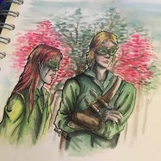 """18 Likes, 1 Comments - Steph A. Nidd (@halfelf558) on Instagram: """"Lucien and Tamlin of the Spring Court from #acotar by @therealsjmaas . Tbh I was never fond of…"""""""