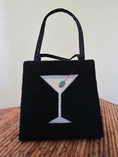 SOLD  Olive Martini Anyone Needlepoint by EcoBeachDesigns on Etsy