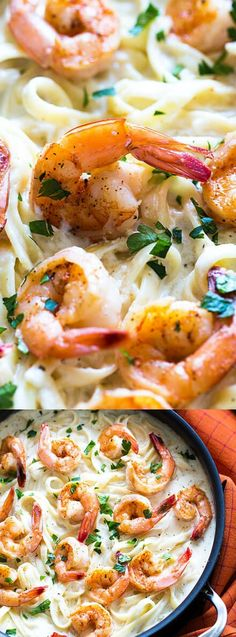 This Cajun Shrimp Alfredo from The Blond Cook is a family favorite seafood dish! Beautiful, perfectly seasoned shrimp are tossed in creamy, cheesy pasta goodness that you are going to go crazy for!