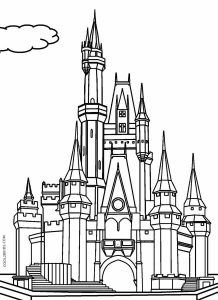 Printable Castle Coloring Pages For Kids Cool2bkids Castle Coloring Page Disney World Castle Free Disney Coloring Pages