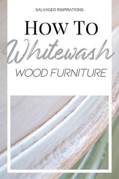 How To Whitewash Wood Furniture - Diy Furniture Bedroom White Washed Bedroom Furniture, Painted Bedroom Furniture, Refurbished Furniture, White Furniture, Furniture Sale, Furniture Design, Kitchen Furniture, Furniture Ideas, Furniture Dolly