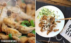 Low carb recipe homemade chicken gyros on cucumber salad. Low in carbohydrates and easy to re-cook. Low carb recipe homemade chicken gyros on cucumber salad. Low in carbohydrates and easy to re-cook. Paleo Dinner, Dinner Recipes, Paleo Recipes, Low Carb Recipes, Law Carb, Chicken Gyros, Dieta Paleo, Healthy Eating, Clean Eating