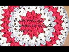 TUTORIAL ALFOMBRA DE TRAPILLO PERFECTA - YouTube