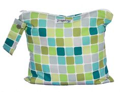 Wet Bag with Zipper and Snap Open Handle Sea Glass by SnuggyBaby