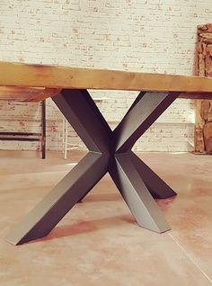 tavolo industriale con gamba in ferro xlab originale