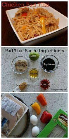 Chicken Pad Thai Recipe on Having Fun Saving and Cooking.
