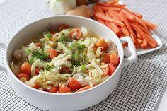 Spättapaket med fänkål, körsbärstomater & kokt potatis