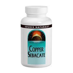 Source Naturals, Copper Sebacate,22mg, 120 Tablets
