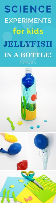 Cool science experiment idea for kids: jellyfish in a bottle