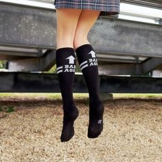 Bad Ass Knee Socks. Link to buy socks that are in some other pinterest pics for fitness. Cute for crossfit or barbell babes.