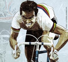 La Légende Dessinée by GregLegende Cycling Art, Road Cycling, Cycling Bikes, Cycle Painting, Bicycle Drawing, Bike Illustration, Bike Poster, Vintage Cycles, Bicycle Race