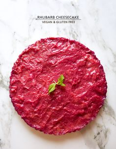 RHUBARB CHEESECAKE (vegan)
