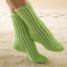 Crochet socks! Put some hot glue swirls on the bottom and they're non-slip slippers, too!