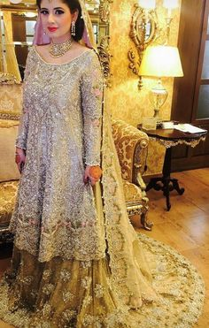 10 Pakistani Wedding Dress Trends - 2017 Pakistani Wedding Dress Trends Your bells dress – it's not article you'll buy on a whim. But area to 10 Pakistani Wedding Dress Trends Latest Bridal Dresses, Wedding Dresses For Girls, Wedding Dress Trends, Wedding Wear, Wedding Hijab, Dress Wedding, Latest Pakistani Dresses, Pakistani Wedding Dresses, Pakistani Suits