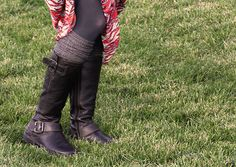 Legwarmers make the perfect preppy outdoor accessory.