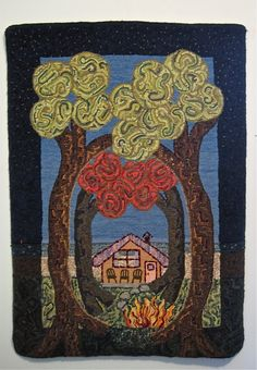 Lou Anne Sybenga Canadian Rug Hooking Artist In Private Collection