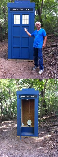 Someone built an outhouse and named it the Turdis.
