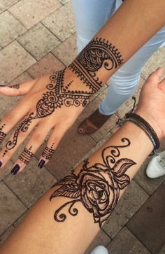 henna butterfly hand - Google Search