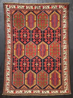 Antique Persian Rug 4'5 x 6'0 Superb Quality Rare by