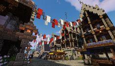 A town I built : Minecraft Minecraft Market, Minecraft Medieval Village, Minecraft Mansion, Minecraft Cottage, Minecraft Castle, Minecraft Building Blueprints, Minecraft Plans, Minecraft Survival, Minecraft House Tutorials