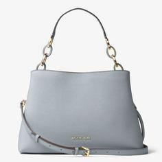 6c9e231e3197 MICHAEL Michael Kors Portia Large Saffiano Leather Shoulder Bag Sky Blue