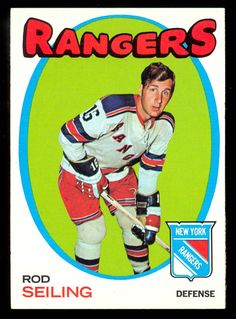 1971 72 topps hockey rod seiling nm new york n y rangers free ship to usa New York Rangers, Hockey Cards, Baseball Cards, Der Club, Rangers Hockey, Nhl Players, Season Ticket, Ice Hockey, Trading Cards