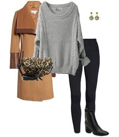 How to wear a sweater: with leggings | 40plusstyle.com
