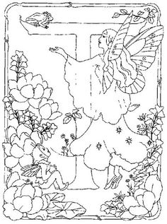 coloring page Alphabet fairies on Kids-n-Fun. Coloring pages of Alphabet fairies on Kids-n-Fun. More than coloring pages. At Kids-n-Fun you will always find the nicest coloring pages first! Fairy Coloring Pages, Alphabet Coloring Pages, Cool Coloring Pages, Printable Coloring Pages, Adult Coloring Pages, Coloring Books, Alphabet Drawing, Alphabet Pictures, Embroidery Alphabet