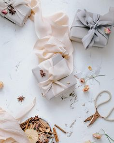 """@floretally on Instagram: """"Gift wrapping is one of my favourite Christmas """"tasks"""" ...is unfortunately completed and  now I need to go to catch-up with my baking…"""" Silk Ribbon, Then And Now, Ribbons, Wraps, Gift Wrapping, Baking, My Favorite Things, Creative, Christmas"""