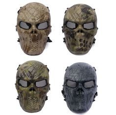 Amazing Tactical Skull Masks with a different kind of painting. These mask can be used while riding your bike, doing paintball or for a simple disguised party. They are full face protection. Available