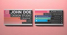 002 graphic designer business card template vol 2 10 Great Business Card Template Designs   PSD Downloads