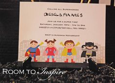 Some great ideas for hosting a super hero party.