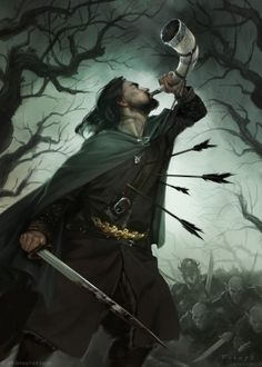 Boromir alternative card art (The Lord of the Ring LCG) © 2016 Fantasy Flight…