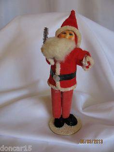 antique santa display putz piece