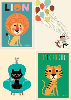 Leuke retroprint voor de kinderkamer of woonkamer : ) van Ingela P Arrhenius