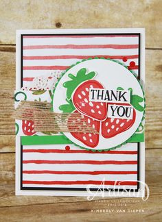 Check out fun ideas using the Fresh Fruit stamp set from Stampin' Up!-From the Garden - StampinByTheSea.com