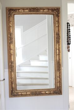 Stunning French Empire Style Gilt Pier Mirror Almost